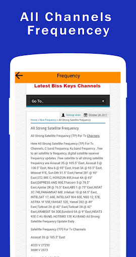 All Satellite Dish Receiver Software Downloader App Report on Mobile