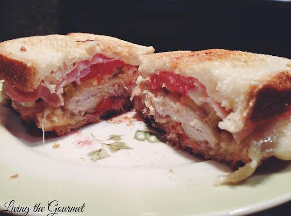 Grilled Fried Chicken Panini