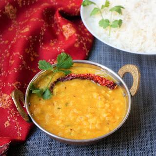 Dal Tadka / Dal Fry with Basmati Rice - Instant Pot Pressure Cooker Recipe