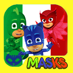 Pj Racing Mask night adventure game for kids Icon
