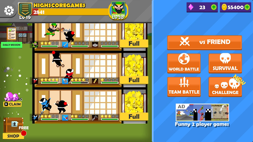 Jumping Ninja Battle - Two Player battle Action apkdebit screenshots 18