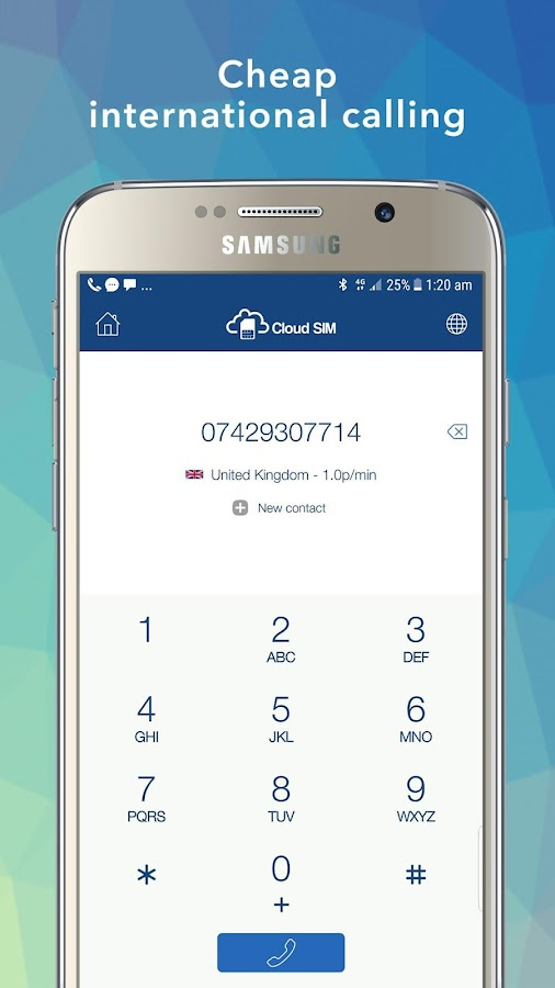 Cloud SIM - Virtual numbers, Cheap calls & SMS- screenshot
