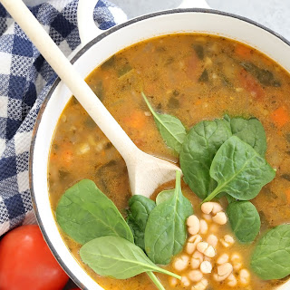 Vegetarian Tuscan White Bean Soup.