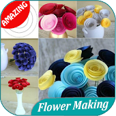 300+ DIY Easy Flower Making Step by Step Tutorial