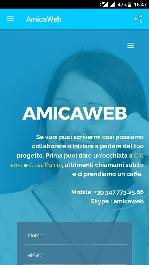 AmicaWeb- screenshot