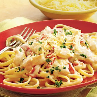 Linguine Alfredo With Chicken Recipes.