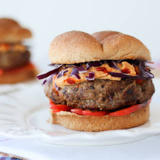3 Ingredient Healthy Burgers with Hummus - Gluten Free, Egg Free, Low Fat.