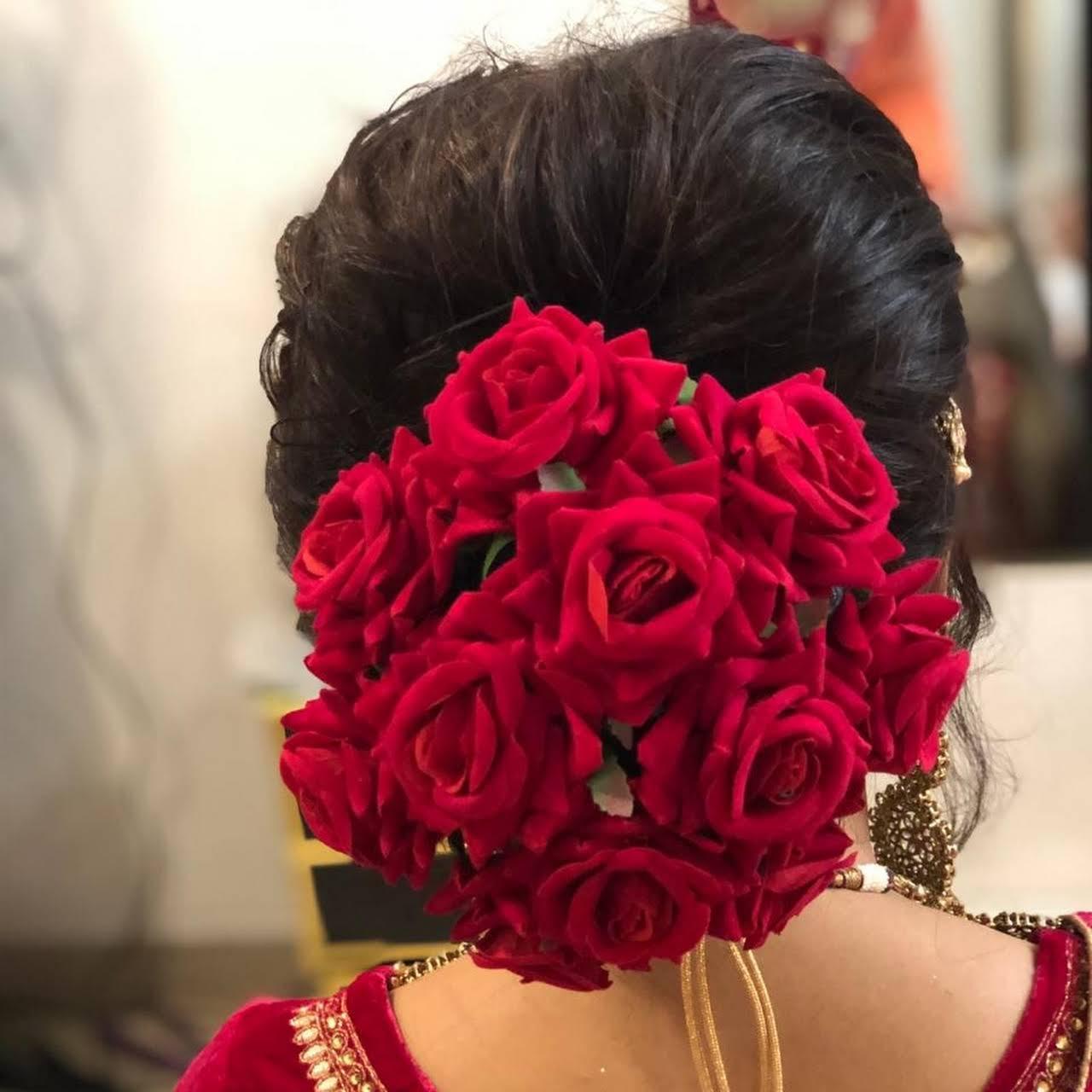 Artificial Flower Gajra Juda Hair Accessories Hair
