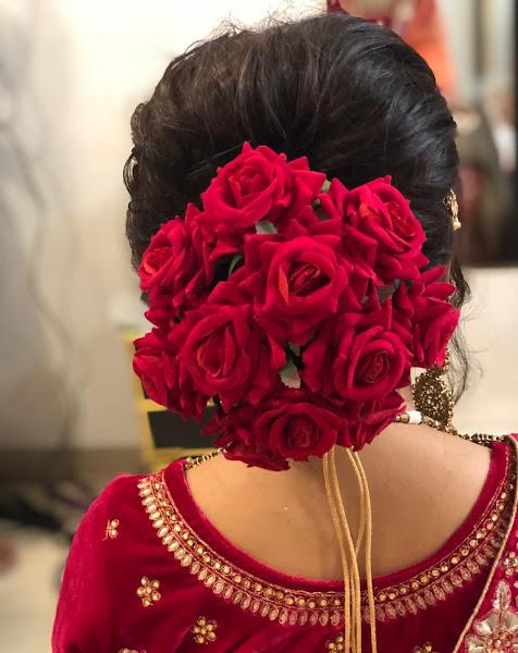Artificial Flower Gajra Juda Hair Accessories