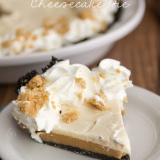 Peanut Butter Cookie Dough Cheesecake Pie