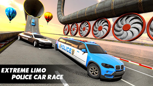 Police Limo Car Stunts GT Racing: Ramp Car Stunt modavailable screenshots 9