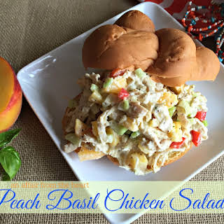Peach Basil Chicken Salad.