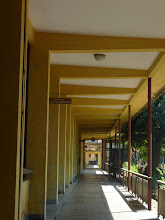 Photo: Walkway along the row of labs..