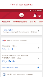 Bank of America Mobile Banking- screenshot thumbnail