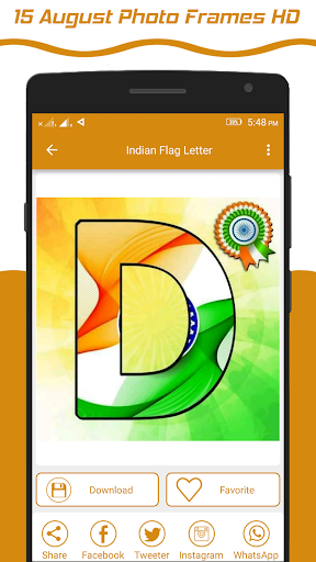 Indian Flag Latter Wallpaper , Flag Photo Frame screenshot 5