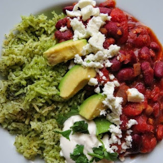 Mexican Bean Stew with Green Rice.