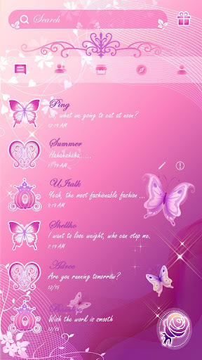 (FREE) PINK BUTTERFLY THEME screenshot
