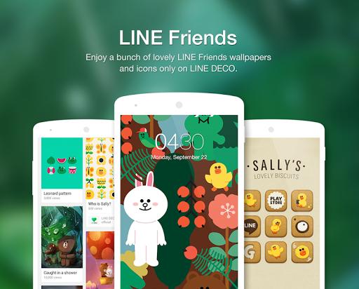 Wallpapers, Icons - LINE DECO screenshot 1