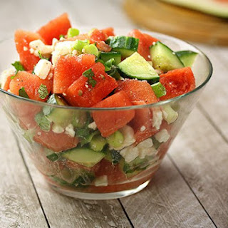 Watermelon Cucumber Summer Salad