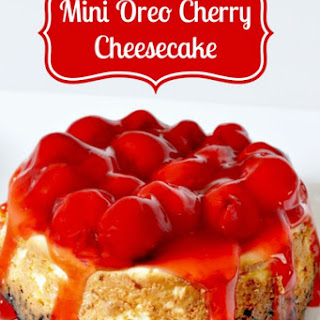 Mini Oreo Cherry Cheesecake