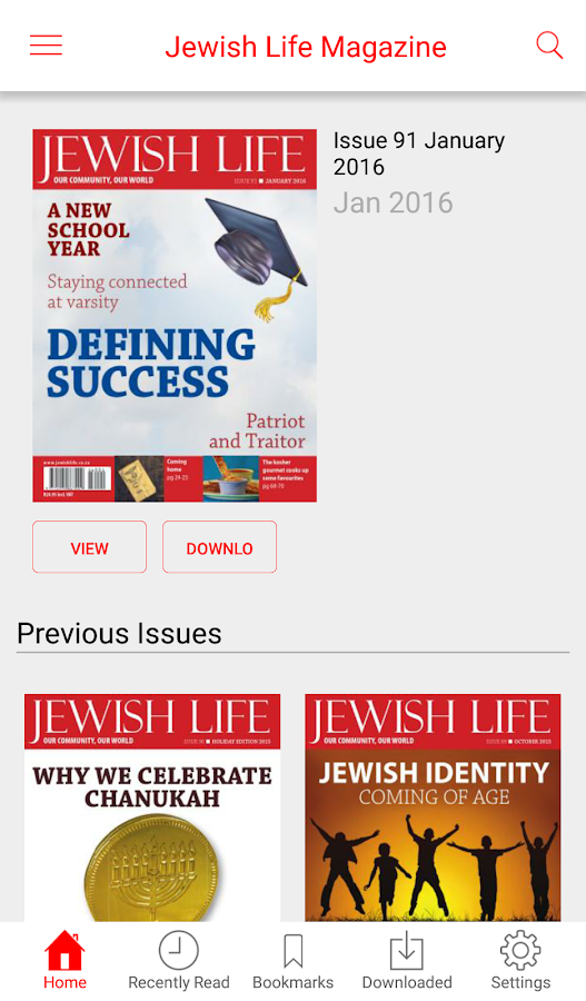 Jewish Life Magazine- screenshot