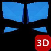 Next Launcher 3D Theme A-Blue