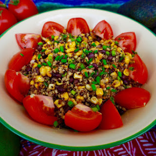 Roasted Corn, Black Bean and Ancient Grains Salad