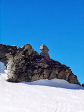 Photo: This must be the most photographed rock on the Haute Route...
