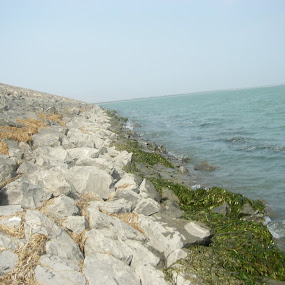 Stone patterns by Naseeb Ullah  Kakar - Landscapes Beaches ( patterns, shadows, water, stone )