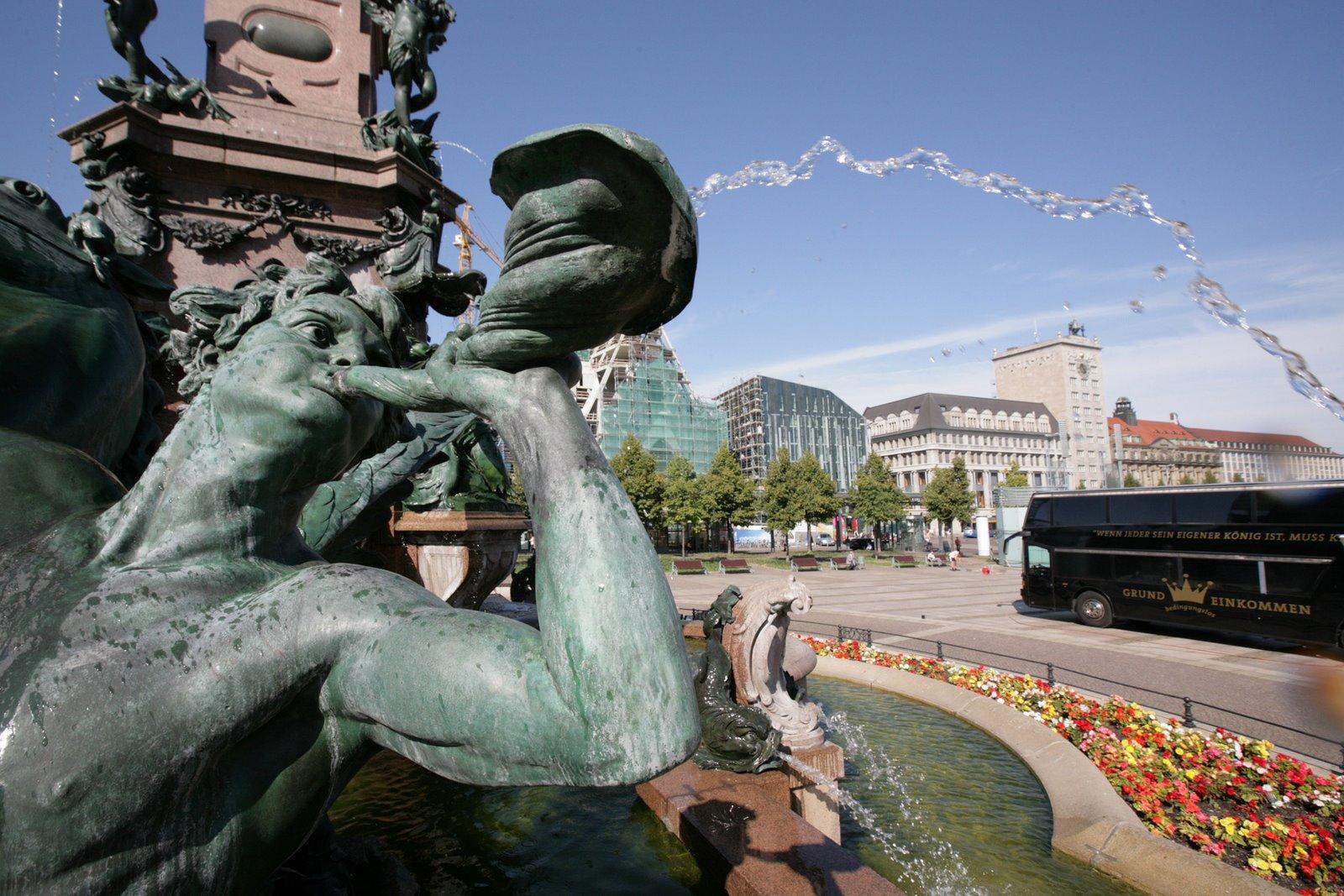 Photo: Kršnungswelle in Leipzig auf dem Augustusplatz
