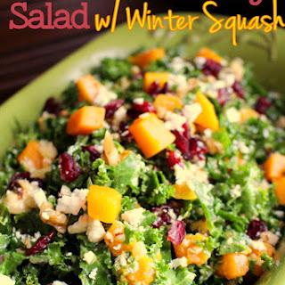 Kale & Cranberry Salad with Winter Squash