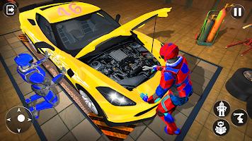 Superhero Robot Car Mechanic