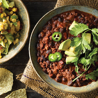Mole-Style Chili with Smoky Caesar Salad Recipe