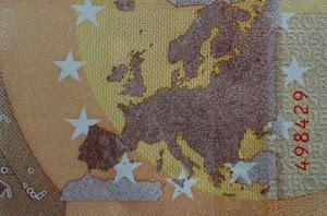 Nur ein Ausschnitt aus einem 50-EUROpa-Schein.