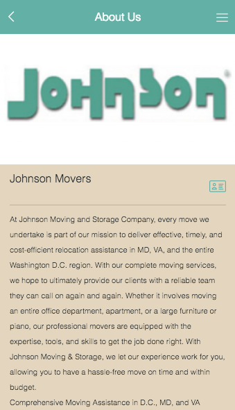 Johnson Moving & Storage Co.- screenshot