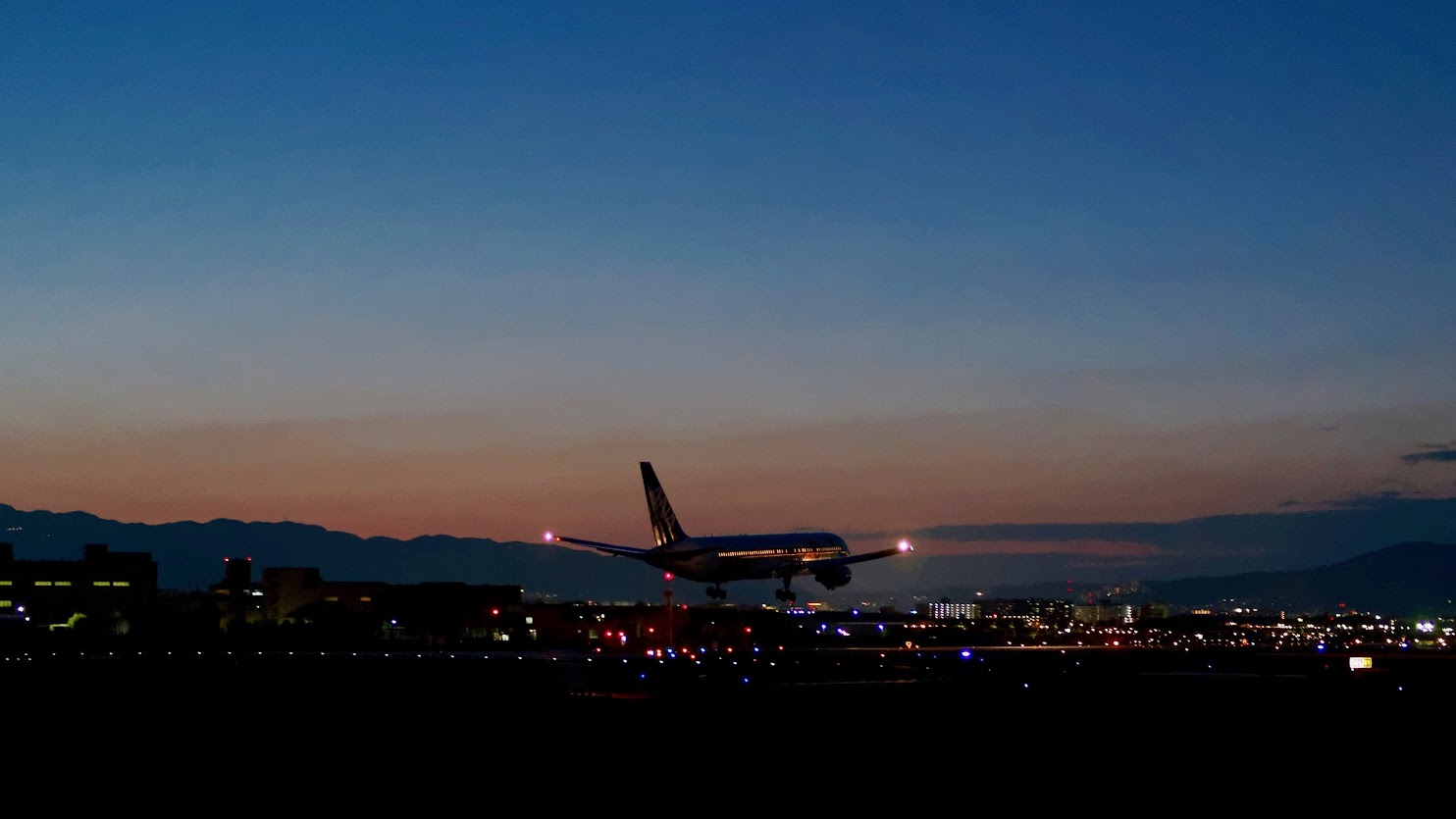 Evening Landing at Osaka (Itami) International Airport