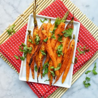Roasted Carrots with Honey and Basil