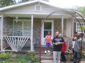 Photo: in front of 624 Avenue H - home of kalonji's uncle. This address has been the McClellan family's since at least the 1940s