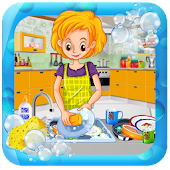 House Dish Washing Kitchen Clean up: Cleaning Sim