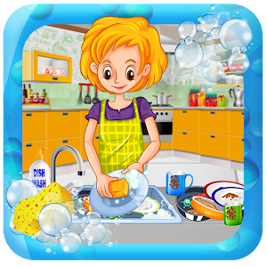House Dish Washing Kitchen Clean Up Cleaning Sim