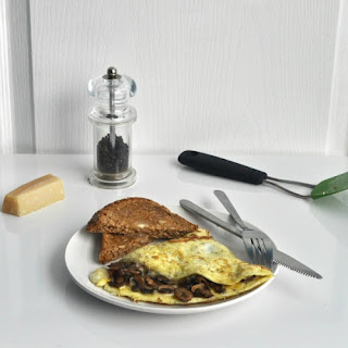 Omelette with Mushroom and Parmesan