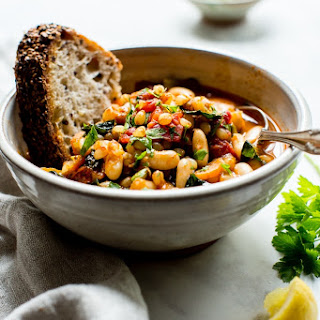 Smoky White Bean Kale and Wheat Berry Stew Recipe