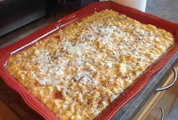 Macaroni & Cheese With  Diced Tomatoes Recipe