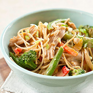 Peanut Noodles with Chicken and Vegetables