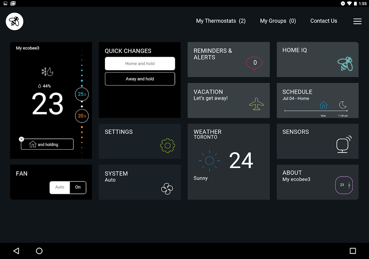 how to set up schedule on ecobee3 lite thermostat