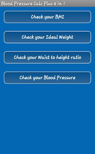 1電卓の血圧プラス4