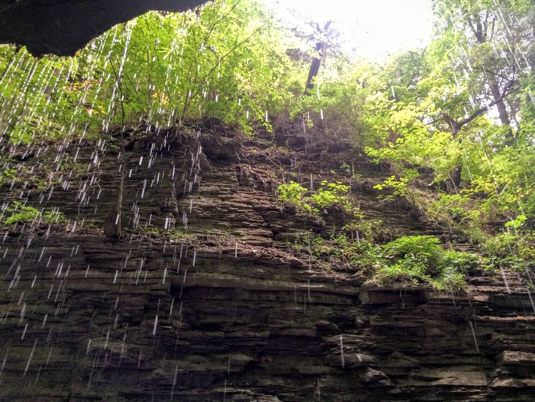 Under Rainbow Falls.