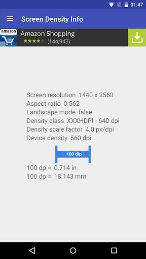 Screen density info
