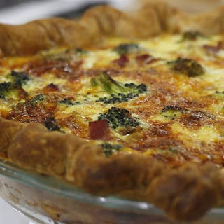 Al Roker's broccoli, ham and cheddar quiche.