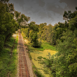 RR TRACK by Ron Olivier - Digital Art Places ( rr track,  )